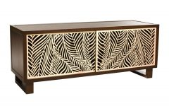 Natural Cane Media Console Tables