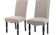 Madison Avenue Tufted Cotton Upholstered Dining Chairs (set of 2)