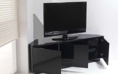Black Gloss Corner Tv Stands