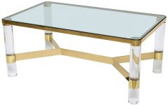 Acrylic Glass And Brass Coffee Tables