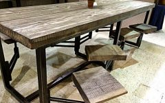 Dining Tables with Attached Stools