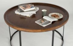 Dark Wood Round Coffee Tables