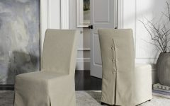 Pearson Grey Slipcovered Side Chairs