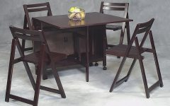 Black Folding Dining Tables and Chairs