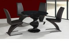 Black Glass Dining Tables And 4 Chairs