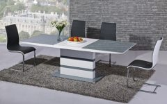 Black Gloss Extending Dining Tables