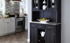 Black Hutch Buffets With Stainless Top