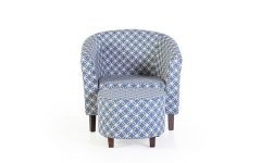 Brames Barrel Chair and Ottoman Sets