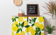 Floral Blush Yellow Credenzas