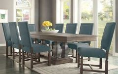 Caira 7 Piece Rectangular Dining Sets With Diamond Back Side Chairs