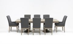 Caira 9 Piece Extension Dining Sets with Diamond Back Chairs