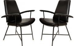 Caira Black Upholstered Arm Chairs