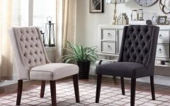 Caira Black Upholstered Side Chairs