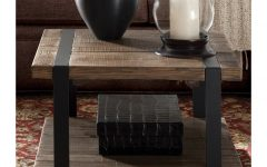 Carbon Loft Kenyon Cube Brown Wood Rustic Coffee Tables