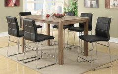 Chandler 7 Piece Extension Dining Sets with Wood Side Chairs
