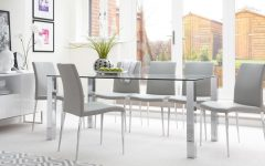 Clear Glass Dining Tables and Chairs