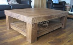 Chunky Oak Coffee Tables