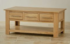 Oak Coffee Table With Storage