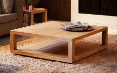 Square Coffee Table Oak