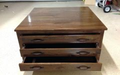 Square Coffee Tables With Drawers