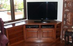 Corner Tv Cabinets For Flat Screens With Doors