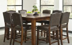 Wes Counter Height Rubberwood Solid Wood Dining Tables