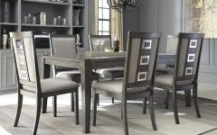 Craftsman 7 Piece Rectangle Extension Dining Sets With Uph Side Chairs