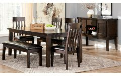 Craftsman 9 Piece Extension Dining Sets With Uph Side Chairs