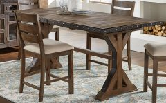 Romriell Bar Height Trestle Dining Tables
