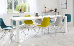 Extending White Gloss Dining Tables
