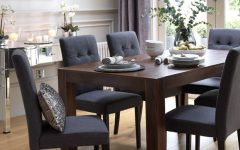 Dark Brown Wood Dining Tables