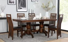 Dark Wood Dining Tables 6 Chairs