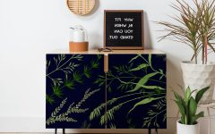 Deep Blue Fern Credenzas