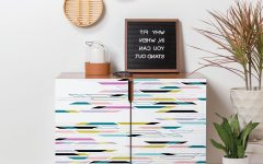 Multi Colored Geometric Shapes Credenzas