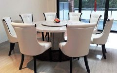 White Circular Dining Tables