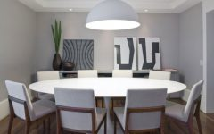 Large White Round Dining Tables