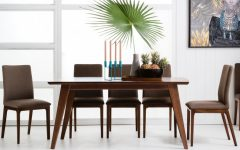 Laurent 7 Piece Rectangle Dining Sets with Wood and Host Chairs