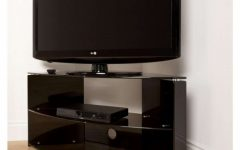 Glass Corner Tv Stands for Flat Screen Tvs