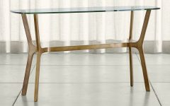 Elke Glass Console Tables with Polished Aluminum Base