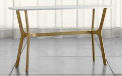 Elke Marble Console Tables with Brass Base