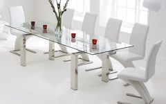 Extending Glass Dining Tables and 8 Chairs