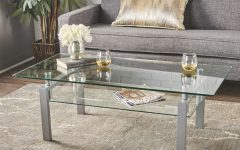 Finbar Modern Rectangle Glass Coffee Tables