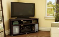 Dark Brown Corner Tv Stands