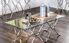 Furniture of America Tellarie Contemporary Chrome Coffee Tables