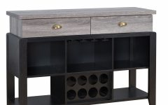Rustic Black 2-drawer Buffets