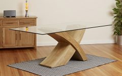 Glass Top Oak Dining Tables
