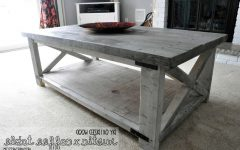 Grey Wash Wood Coffee Tables