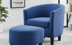 Harmon Cloud Barrel Chairs and Ottoman