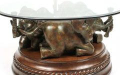 Elephant Coffee Tables with Glass Top