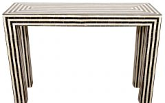 Black And White Inlay Console Tables